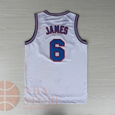 Classic Maillot NBA Film Basket-Ball Tune Squad NO.6 James Blanc