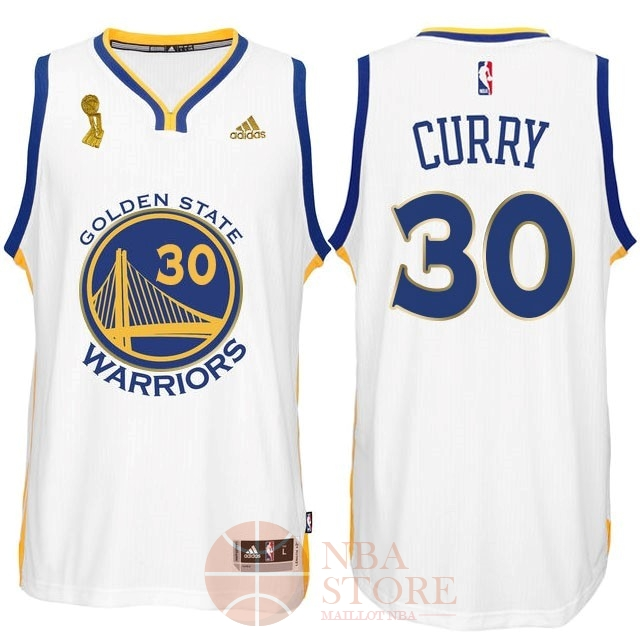Classic Maillot NBA Golden State Warriors 2015 Final Champions NO.30 Curry Blanc