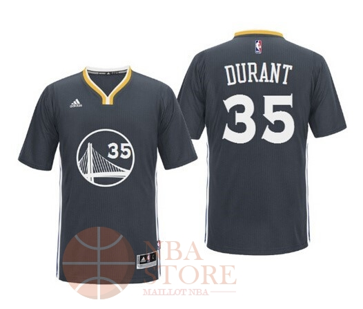 Classic Maillot NBA Golden State Warriors Manche Courte NO.35 Kevin Durant Noir