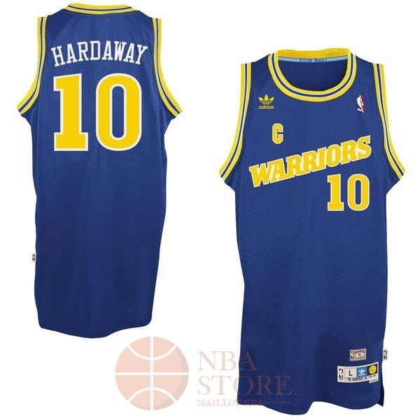 Classic Maillot NBA Golden State Warriors NO.10 Anfernee Hardaway Retro Bleu