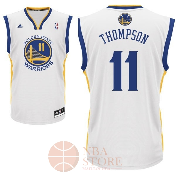 Classic Maillot NBA Golden State Warriors NO.11 Klay Thompson Blanc