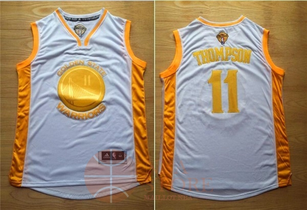Classic Maillot NBA Golden State Warriors NO.11 Klay Thompson Or