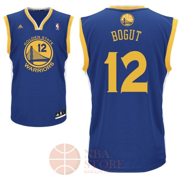 Classic Maillot NBA Golden State Warriors NO.12 Andrew Bogut Bleu