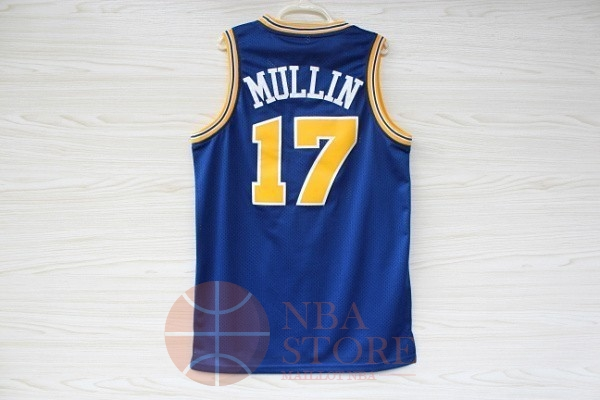 Classic Maillot NBA Golden State Warriors NO.17 Chris Mullin Bleu