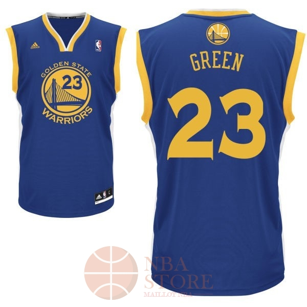 Classic Maillot NBA Golden State Warriors NO.23 Draymond Green Bleu