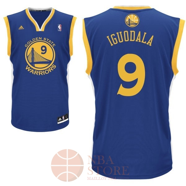 Classic Maillot NBA Golden State Warriors NO.9 Andre Iguodala Bleu