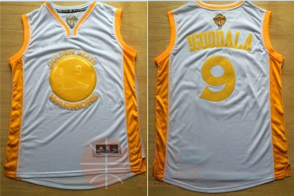 Classic Maillot NBA Golden State Warriors NO.9 Andre Iguodala Or