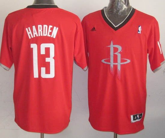 Classic Maillot NBA Houston Rockets 2013 Noël NO.13 Harden Rouge