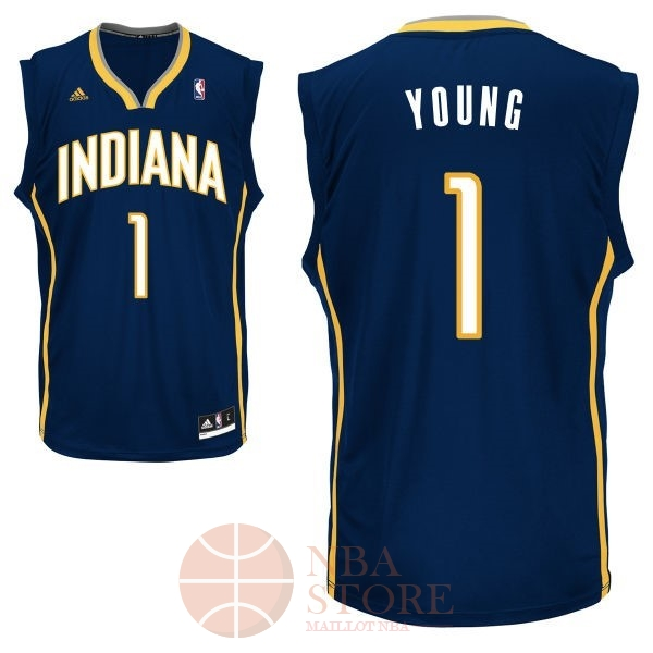 Classic Maillot NBA Indiana Pacers NO.1 Lance Stephenson Noir