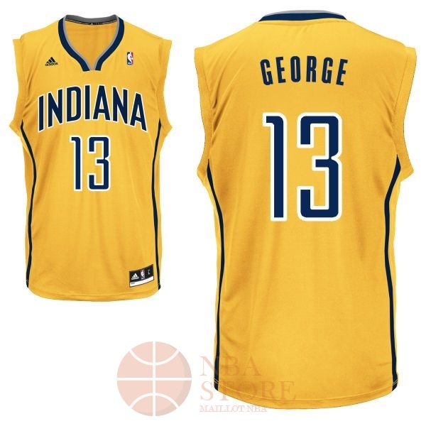 Classic Maillot NBA Indiana Pacers NO.13 Paul George Jaune