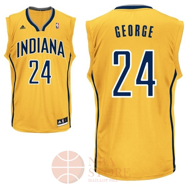 Classic Maillot NBA Indiana Pacers NO.24 Paul George Jaune