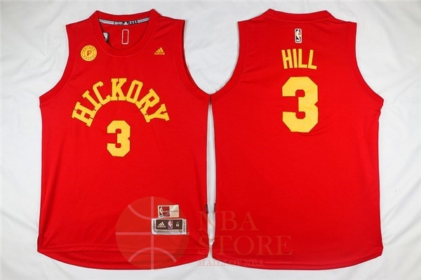 Classic Maillot NBA Indiana Pacers NO.3 George Hill Rouge