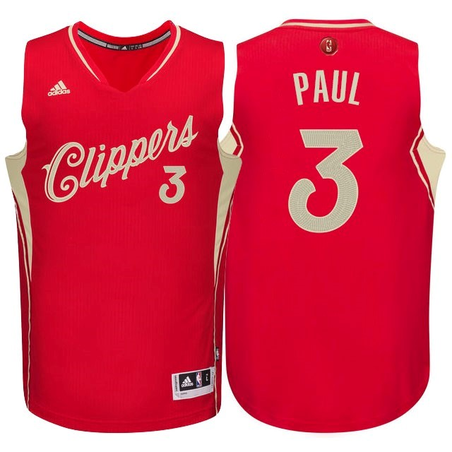 Classic Maillot NBA Los Angeles Clippers 2015 Noël NO.3 Paul Rouge