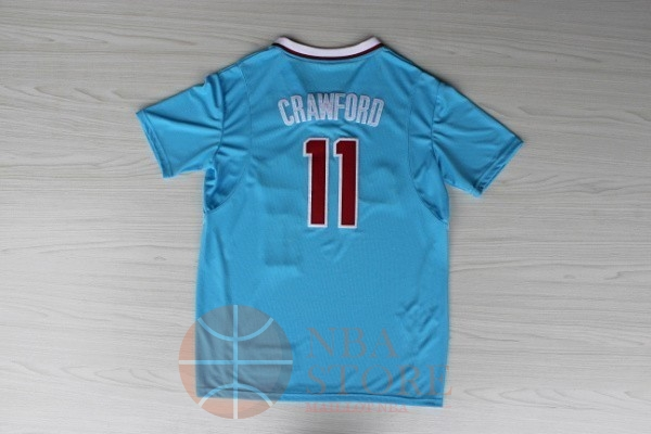Classic Maillot NBA Los Angeles Clippers Manche Courte NO.11 Jamal Crawford Bleu