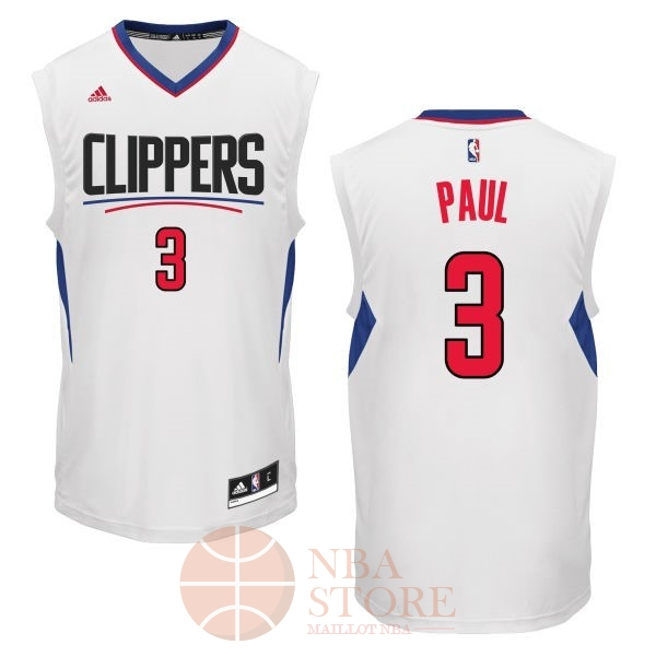 Classic Maillot NBA Los Angeles Clippers NO.3 Chris Paul Blanc