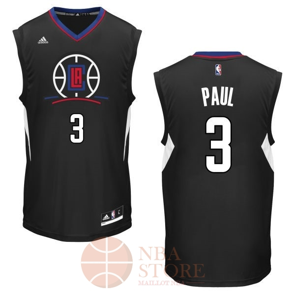 Classic Maillot NBA Los Angeles Clippers NO.3 Chris Paul Noir