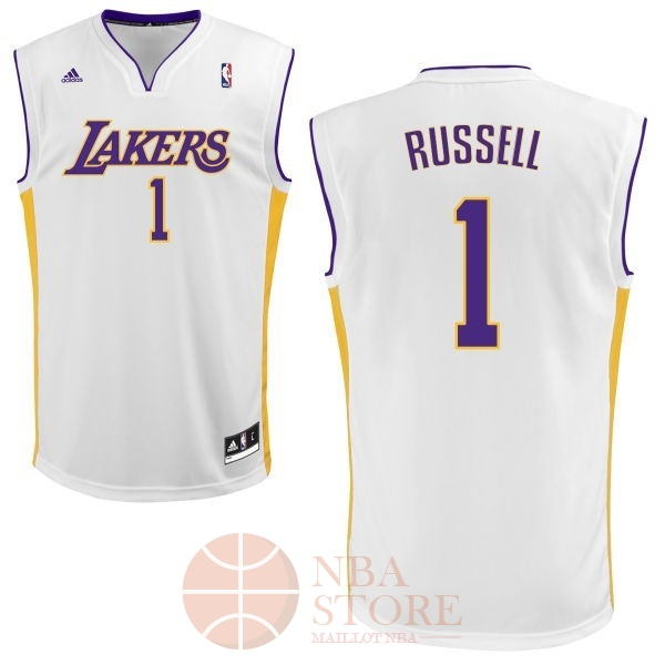 Classic Maillot NBA Los Angeles Lakers NO.1 D'Angelo Russell Blanc
