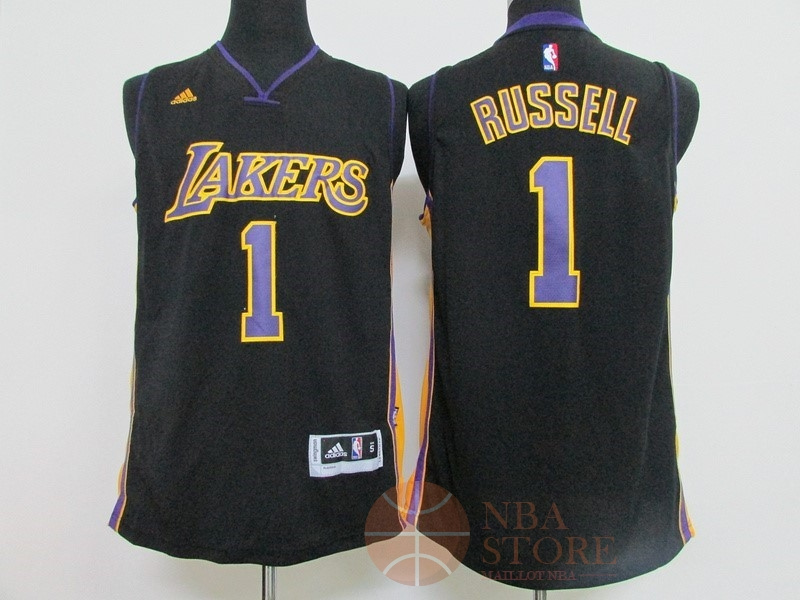 Classic Maillot NBA Los Angeles Lakers NO.1 D'Angelo Russell Noir