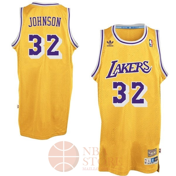 Classic Maillot NBA Los Angeles Lakers NO.32 Wesley Johnson Jaune