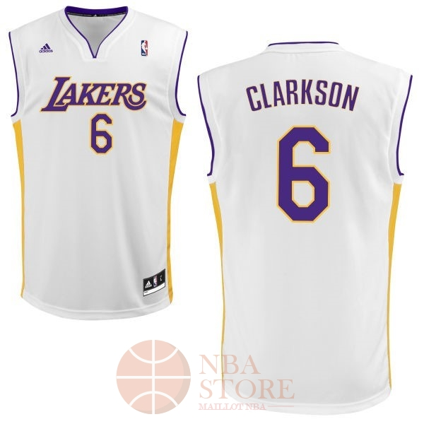 Classic Maillot NBA Los Angeles Lakers NO.6 Jordan Clarkson Blanc