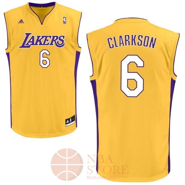 Classic Maillot NBA Los Angeles Lakers NO.6 Jordan Clarkson Jaune
