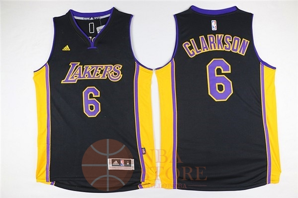 Classic Maillot NBA Los Angeles Lakers NO.6 Jordan Clarkson Noir