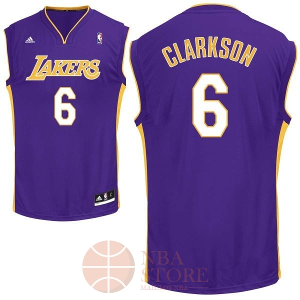 Classic Maillot NBA Los Angeles Lakers NO.6 Jordan Clarkson Pourpre