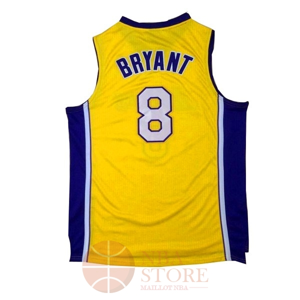 Classic Maillot NBA Los Angeles Lakers NO.8 Kobe Bryant Jaune Pourpre