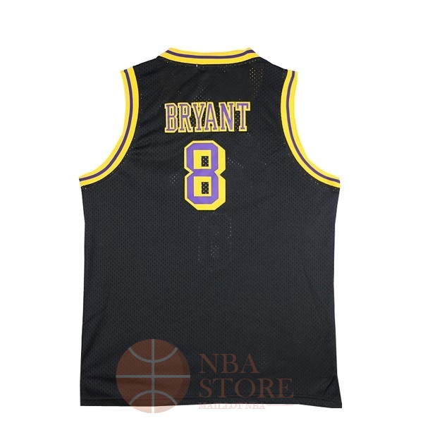 Classic Maillot NBA Los Angeles Lakers NO.8 Kobe Bryant Noir