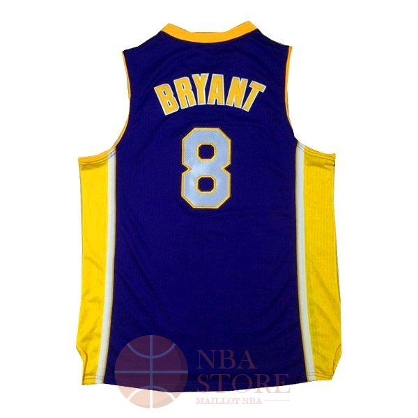 Classic Maillot NBA Los Angeles Lakers NO.8 Kobe Bryant Pourpre Jaune