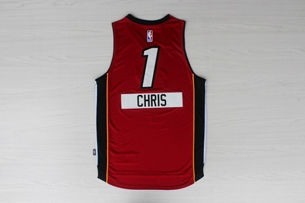 Classic Maillot NBA Miami Heat 2014 Noël NO.1 Chris Rouge