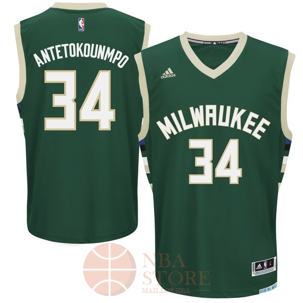 Classic Maillot NBA Milwaukee Bucks NO.34 Giannis Antetokounmpo Vert