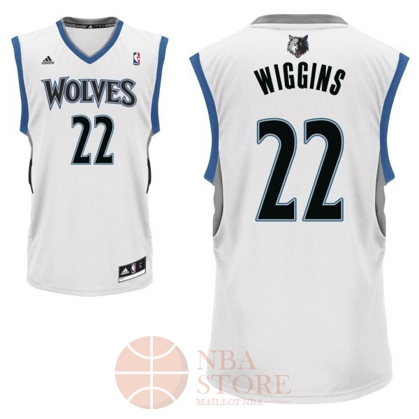 Classic Maillot NBA Minnesota Timberwolves NO.22 Andrew Wiggins Blanc