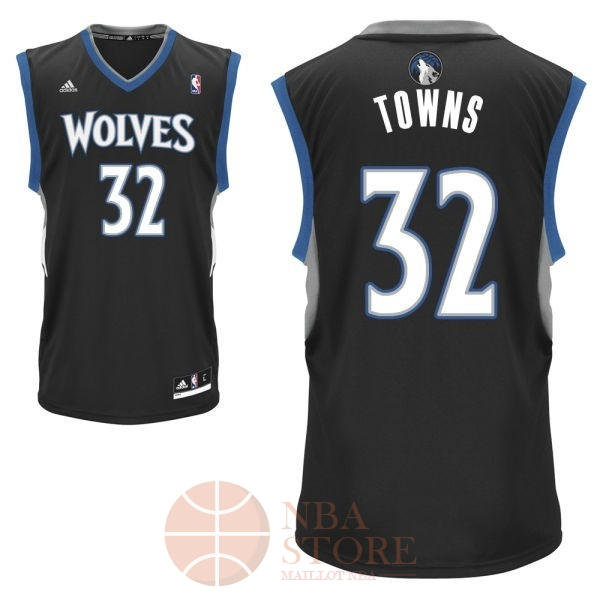 Classic Maillot NBA Minnesota Timberwolves NO.32 Karl Anthony Towns Noir