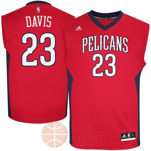 Classic Maillot NBA New Orleans Pelicans NO.23 Anthony Davis Rouge