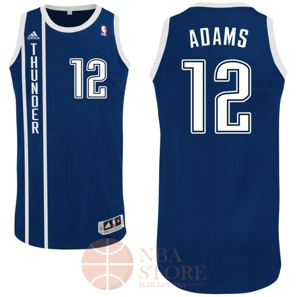 Classic Maillot NBA Oklahoma City Thunder NO.12 Steven Adams Retro Bleu