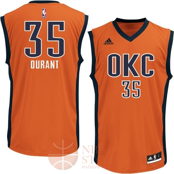 Classic Maillot NBA Oklahoma City Thunder NO.35 Kevin Durant Orange