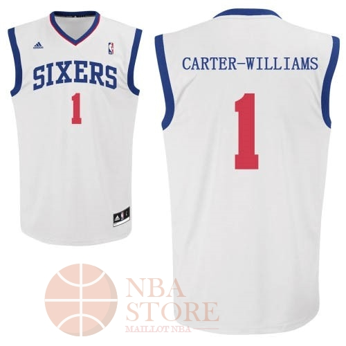 Classic Maillot NBA Philadelphia Sixers NO.1 Michael Carter Williams Blanc
