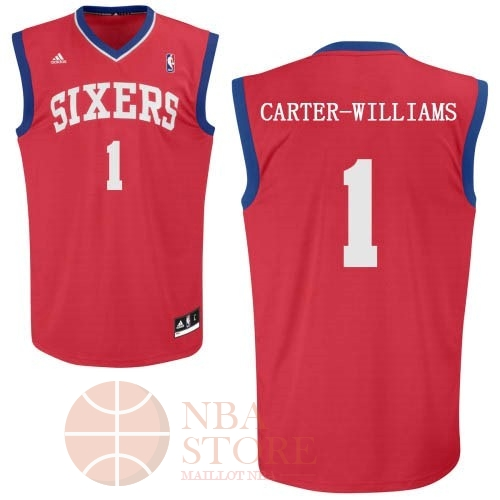 Classic Maillot NBA Philadelphia Sixers NO.1 Michael Carter Williams Rouge