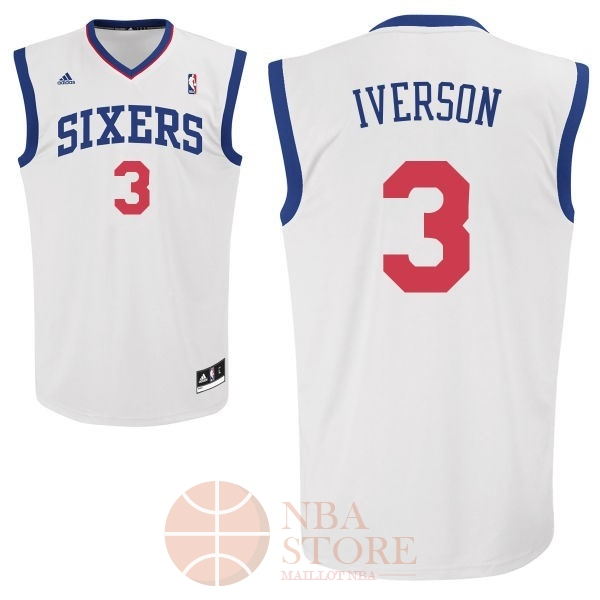 Classic Maillot NBA Philadelphia Sixers NO.3 Allen Iverson Blanc