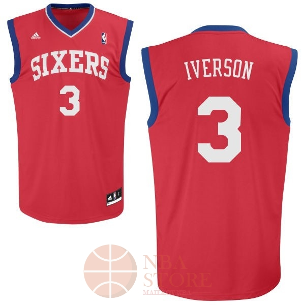 Classic Maillot NBA Philadelphia Sixers NO.3 Allen Iverson Rouge