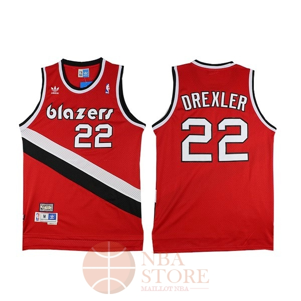 Classic Maillot NBA Portland Trail Blazers NO.22 Clyde Drexler Rouge