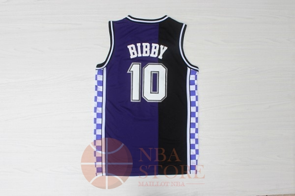 Classic Maillot NBA Sacramento Kings NO.10 Mike Bibby Retro Bleu