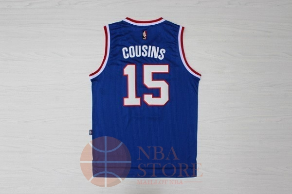 Classic Maillot NBA Sacramento Kings NO.15 DeMarcus Cousins Retro Bleu