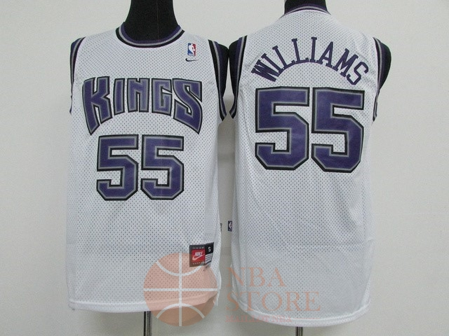 Classic Maillot NBA Sacramento Kings NO.55 Jason Williams Blanc