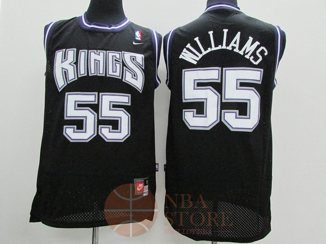 Classic Maillot NBA Sacramento Kings NO.55 Jason Williams Noir