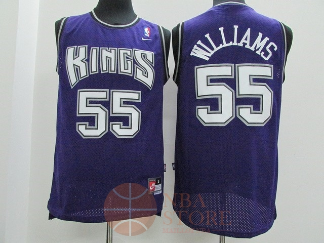 Classic Maillot NBA Sacramento Kings NO.55 Jason Williams Pourpre