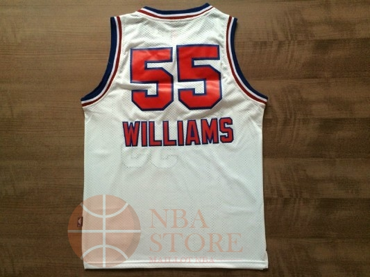 Classic Maillot NBA Sacramento Kings NO.55 Jason Williams Retro Blanc