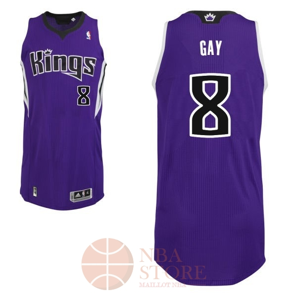 Classic Maillot NBA Sacramento Kings NO.8 Rudy Gay Pourpre