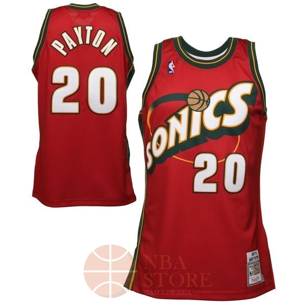 Classic Maillot NBA Seattle Supersonics NO.20 Gary Payton Retro Rouge